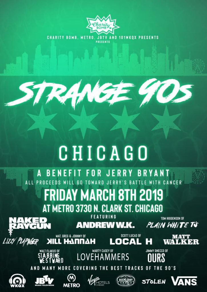 Strange 90's – A Benefit for Jerry Bryant of JBTV
